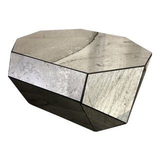 Faceted Mirror Coffee Table For Sale