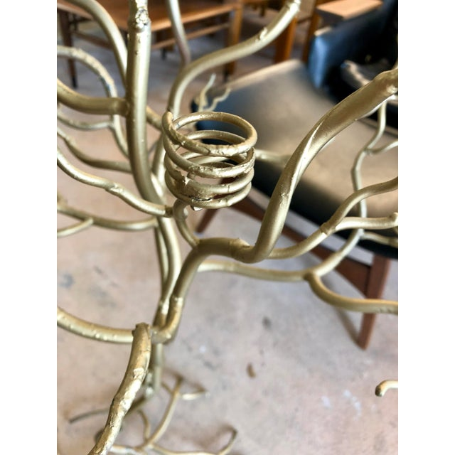 2000 - 2009 Contemporary Large Gold Candle Tree For Sale - Image 5 of 6