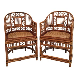 1970s Vintage Rattan Chairs- a Pair For Sale