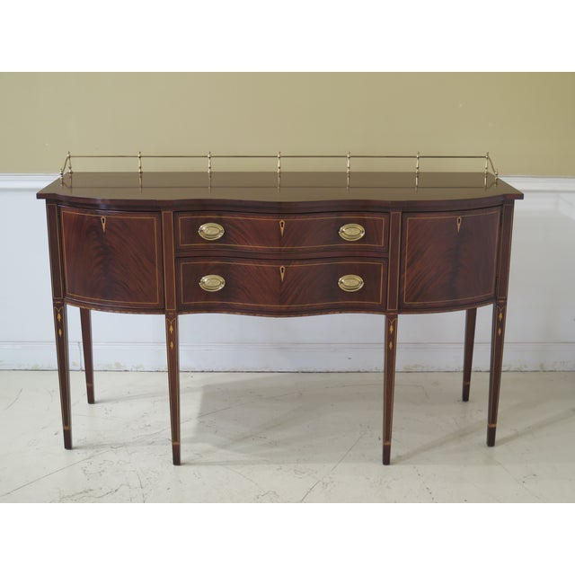 1980s Vintage Henkel Harris Mahogany 2367a Inlaid Sideboard For Sale - Image 13 of 13