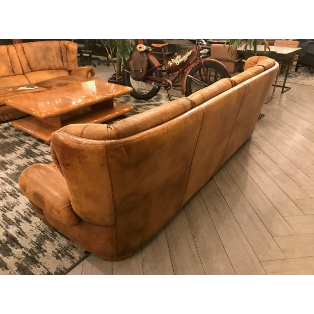 Large Leather Sofa For Sale - Image 4 of 11