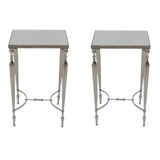 Contemporary Cakra Square Aluminium Side Tables - a Pair