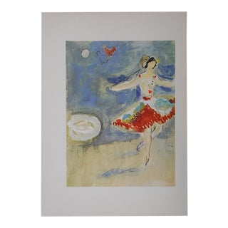 """Vintage Marc Chagall Lithograph-Folio Size-c.1969-""""The Dance"""" For Sale"""