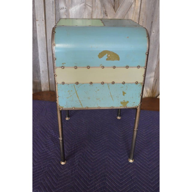 Locally-Sourced Reclaimed Steel Bedside Table - Image 4 of 10