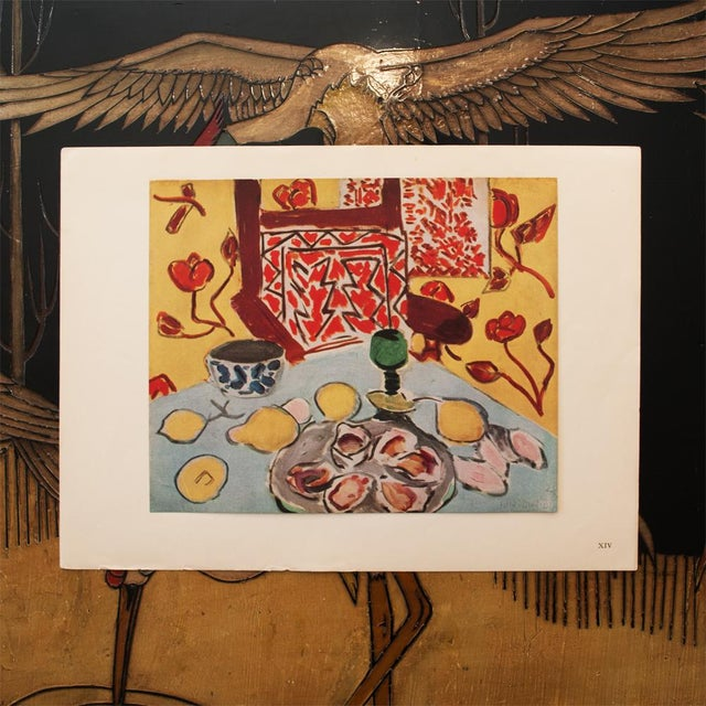 """Expressionism 1946 Henri Matisse Original """"Still Life on Blue Table"""" Parisian Period Lithograph For Sale - Image 3 of 8"""