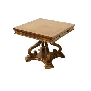 Late 20th Century Vintage Gordon's Furniture Neoclassical Style Accent Table For Sale