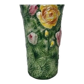 Italian Majolica Floral Vase