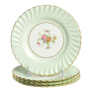 Minton Dawn Pale Green Salad Plate - Set of 4 For Sale