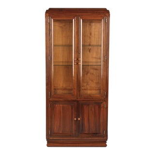 French Art Deco Walnut Vitrine/Display Cabinet