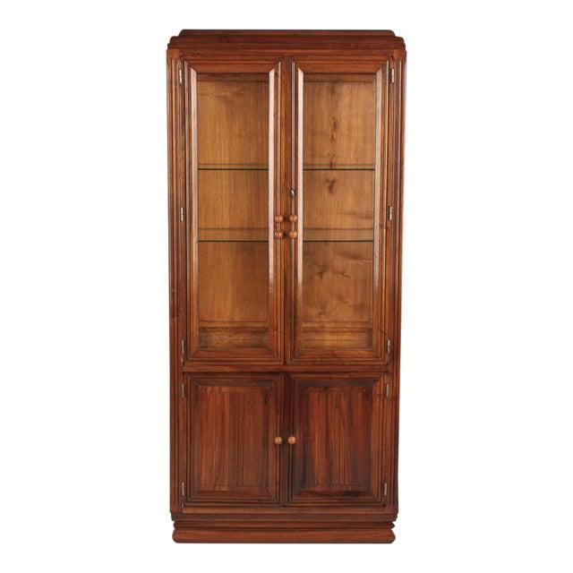 French Art Deco Walnut Vitrine/Display Cabinet - Image 1 of 11