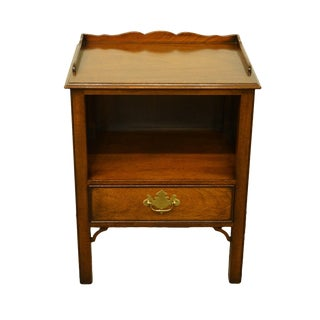 Kindel Grand Rapids Solid Walnut Traditional Style Nightstand For Sale
