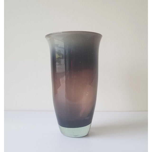 1981 Dante Marioni Glass Blown Vase for Traver Gallery For Sale - Image 12 of 13