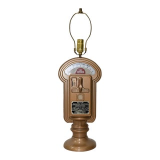 Vintage City of Oakland Parking Meter Converted to Table Lamp