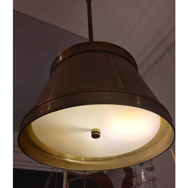 Visual Comfort Brass Hanging Shade Pendant-New - Image 4 of 6