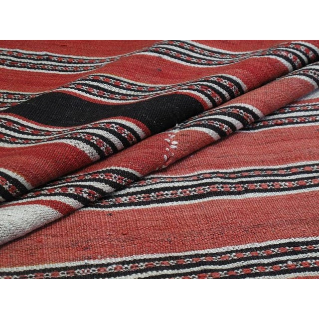 Textile Banded Mazanderan Kilim For Sale - Image 7 of 8