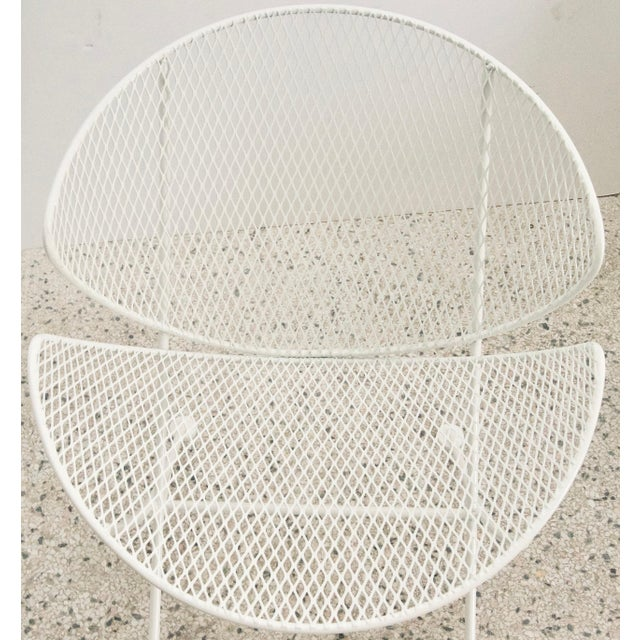 "Mid 20th Century Salterini ""Clamshell"" White Patio Side Chair For Sale - Image 5 of 7"