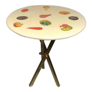 Mid-Century Modern Piero Fornasetti Autumn Gourds Tripod Table For Sale