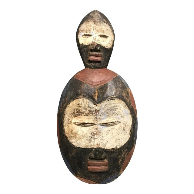 African Tribal Art Kwele Mask For Sale