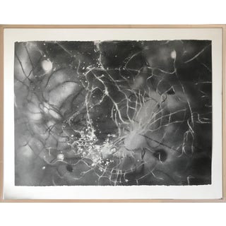 Modern Charcoal Abstract Cosmic Drawing 2003 For Sale
