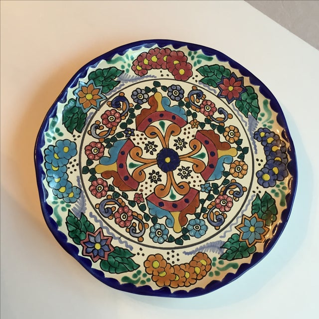 Mexican Pottery Platter For Sale - Image 5 of 9