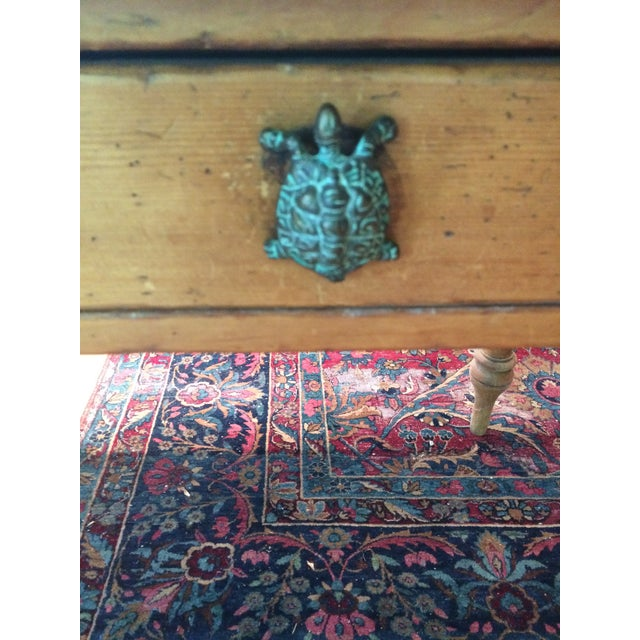 Antique Rustic Pine Console Table - Image 7 of 9