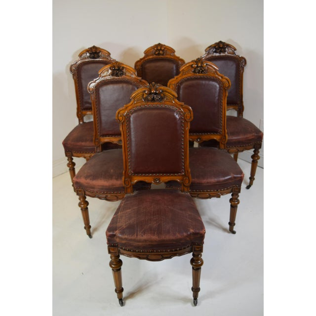 Mid 19th-Century Walnut Dining Chairs-Set of Six (6) For Sale - Image 11 of 12