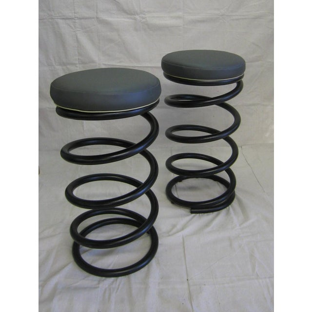 Industrial Spring Stools - A Pair For Sale In Miami - Image 6 of 6