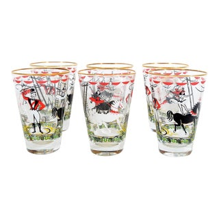 1950s Mid-Century Modern Libbey Glass Tumblers from The Greatest Show on Earth - Set of 6 For Sale