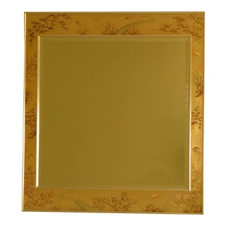 Labarge Reverse Paint Decorated Mirror