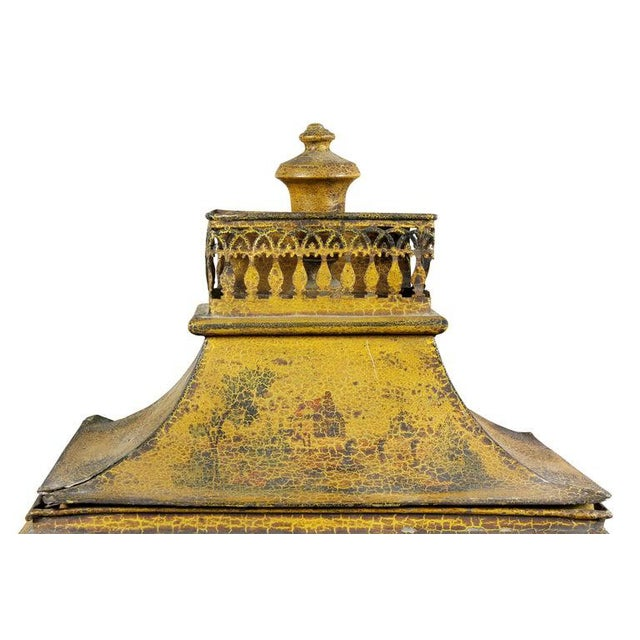 French Empire Yellow Tole Lavabo For Sale - Image 4 of 7
