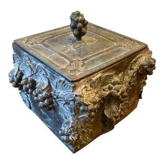 Maitland Smith Verdigris Lidded Box For Sale