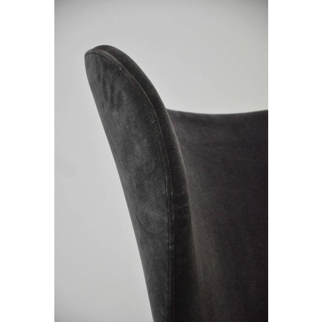 """1950s Edward Wormley """"Heart Chair"""" Wingback for Dunbar For Sale - Image 5 of 8"""