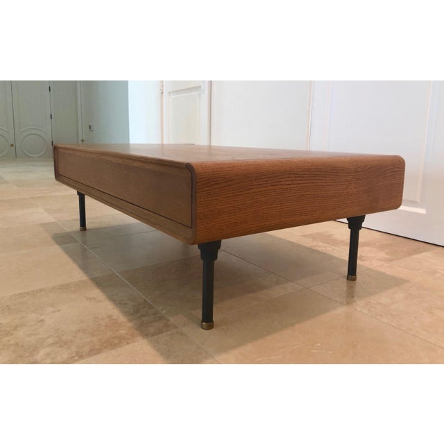 Kipp Stewart Mid-Century Modern Coffee Table With Storage Space For Sale - Image 4 of 9