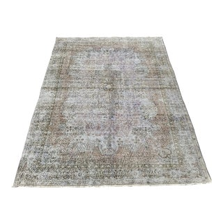 1920s Antique Turkish Soft Lavender Rug- 6′10″ × 10′3″ For Sale