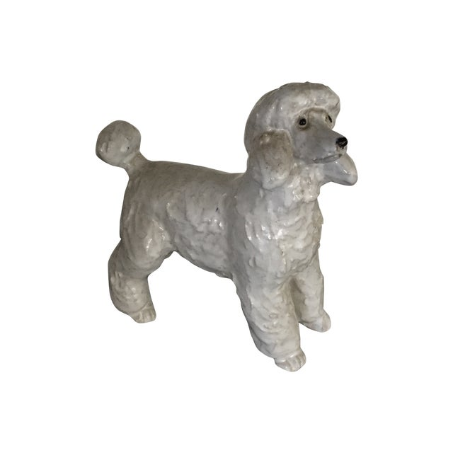 Vintage Pottery Poodle - Image 1 of 8