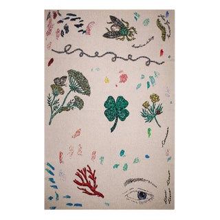 Fee Greening - Artist Sketchbook Cashmere Blanket, 51' X 71' For Sale