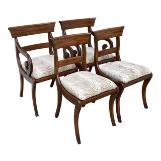 1960s Vintage Henkle Harris Solid Mahogany Dining Chairs-Set of 4 For Sale