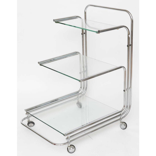 Fontana Arte Chrome Bar Cart - Image 2 of 10