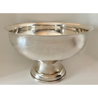 Large Silver Footed Bowl Centerpiece Punch Bowl Preview