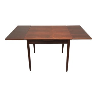20th Century Danish Modern Refinished Rosewood Draw Leaf Dining Table For Sale