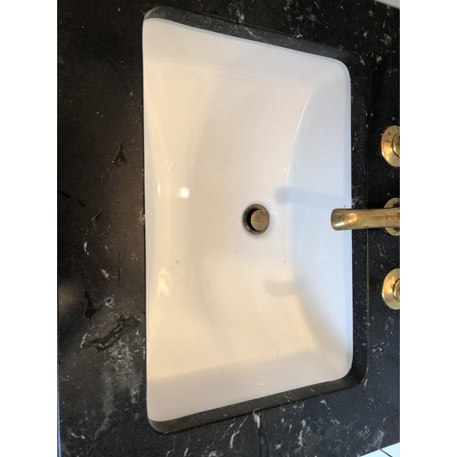 "universal Undermount Rectangular Vitreous China Lavatory Sink Single Glazed 221/4"" x 16 3/8"" x 7 1/2"" Never installed...."