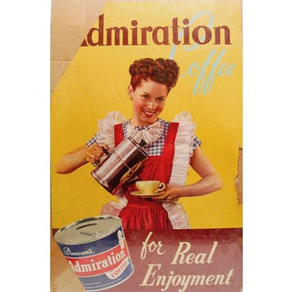 1950's Admiration Coffee Poster For Sale