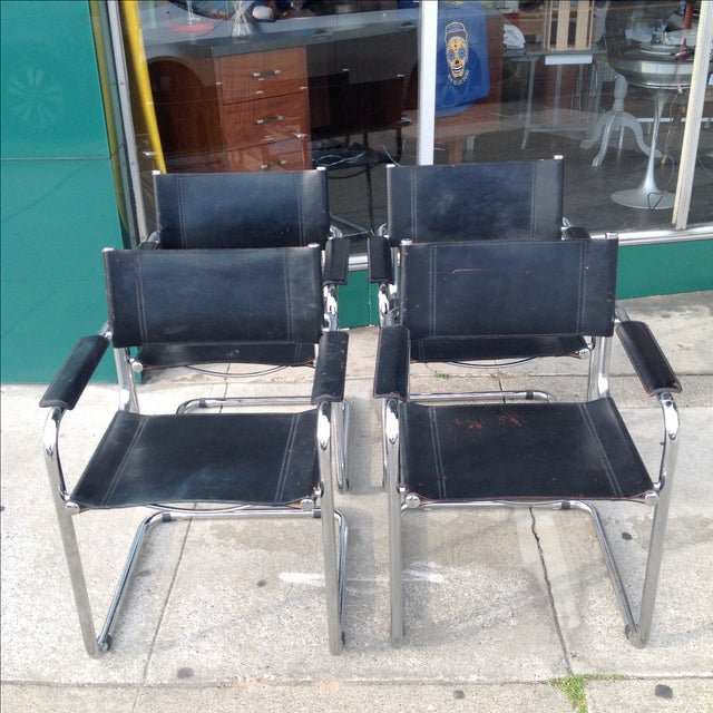 Mark Stam Vintage Cantilever Arm Chairs - Set of 4 - Image 3 of 8