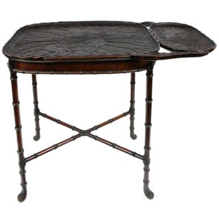 19th C. Japanese Carved Tray Table For Sale