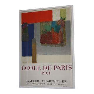 Original 1961 Framed Pierre Lesieur Exhibition Poster by Mourlot