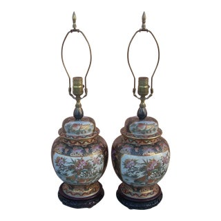 1960's Vintage Chinoiserie Lamps- A Pair For Sale