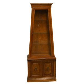 "20th Century Italian Tuscan 26"" Display Curio Cabinet For Sale"