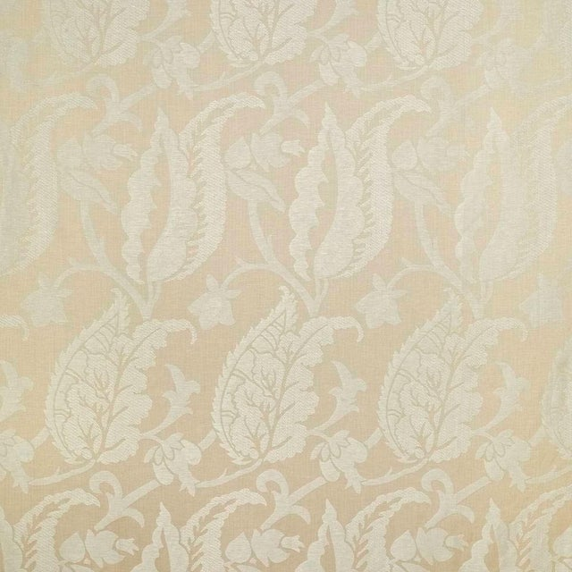 Suzanne Tucker Home Sample, Suzanne Tucker Home Jacqueline Linen Blend Jacquard in Sand For Sale - Image 4 of 4