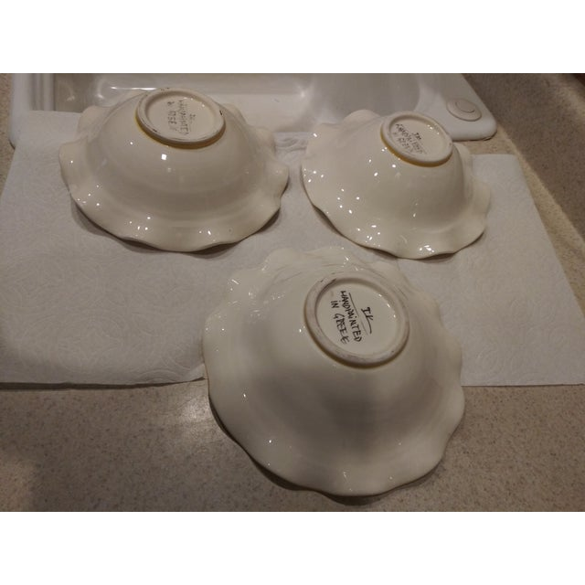 Mid-Century Modern 1950s IK Ruffled Bowls - Set of 3 For Sale - Image 3 of 6