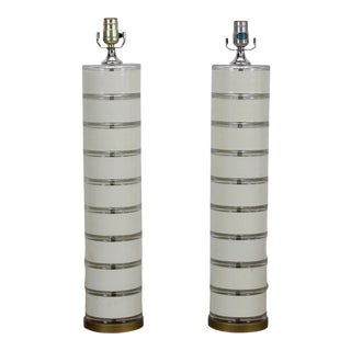 Pair of 1970s Acrylic Table Lammps